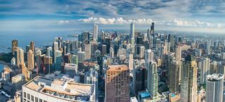 Chicago Skyline Southview Panorama