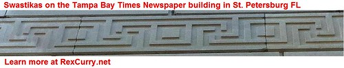 Tampa Bay Times Newspaper Swastika Building in Saint Petersburg Florida