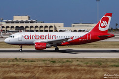 Air Berlin --- Airbus A319 --- OE-LNE (Drinu C) Tags: plane aircraft aviation sony airbus dsc mla airberlin a319 lmml hx100v adrianciliaphotography oelne