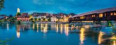 Bren an der Aare I (www.ernst-christen.com) Tags: schweiz switzerland bluehour aare blauestunde outstandingshots brenanderaare ernstchristen
