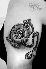 Pocket-watch and letter A on chain tattoo (Miguel Angel tattoo) Tags: portrait black orchid colour london miguel thames illustration ink skull artist feminine style richmond ornament fantasy angels freehand organic pocket custom ornamental miguelangel richmondhill upon pocketwatch maik inked shading blackandgreytattoo richmondtattoo londontattoo miguelangeltattoo latinangelstudio londontattooartist