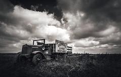 Pensive (Anthonypresley1) Tags: rural illinois anthonypresley anthony presley truck landscape film digital old retro vintage sky cloud clouds monochrome monocolor mono black white