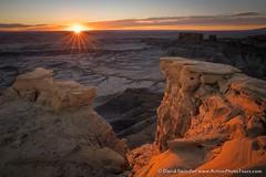 Morning at the Badlands (David Swindler (ActionPhotoTours.com)) Tags: badlands caineville southwest utah desert overlook sunburst sunrise