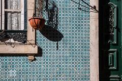 Lisbon Walls #2 [Explored] (Franck_Michel) Tags: azulejos wall colorful shadow flower pot