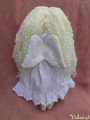Angel doll (Vikacat) Tags: angel handmade handmadedoll clothdoll white ragdoll fabricdoll kzmves angyalka