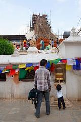 Bodhnath (Bertrand de Camaret) Tags: nepal asie asia bertranddecamaret stupa bouddha construction reconstruction seisme ngc enfant child moulinapriere drapeau chevauxdevent nationalgeographic architecture bodhnath