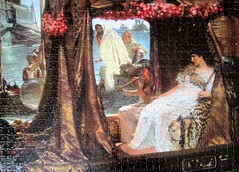 The Meeting of Antony and Cleopatra: 41 BC (pefkosmad) Tags: jigsaw puzzle leisure hobby pastime lawrencealmatadema art painting artist themeetingofantonyandcleopatra victorian
