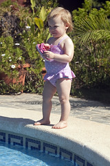 Emily by the pool (dan.oxlade) Tags: swimming d40 nikkor nikkor50mm118g travel toddler girl
