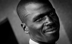 Guy from Dei (gunnisal) Tags: africa portrait bw face male blackandwhite smile gunnisal uganda dei