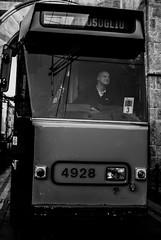 Tram (Daniele Salutari) Tags: photo photography shot wow amazing cool great good dannyboy ilovedannyboy daniele black white bianco nero street milano milan italy people urban