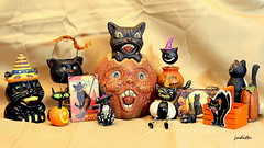 It's Halloween time at Cat Hill Farm (judecat (back with the pride)) Tags: blackhalloweencats cats felines halloween