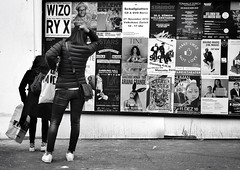 It makes me want to tear my hair out! (Thomas8047) Tags: street zurich zrich schweiz switzerland ch monochrome streetpix women frauen plakate nikon bw 2016 thomas8047 zumhaareraufen blackandwithe strassenfotografie strassencene people candid flickr schwarzundweiss urban city europa stadtansichten streetartstreetlife streetscene snapseed d300s iamnikon streetphotographer zri blancoynegro 175528 streetlife photography stadtzrich veranstaltungsplan herbst onthestreets zrigrafien streetart fineartstreetphotography