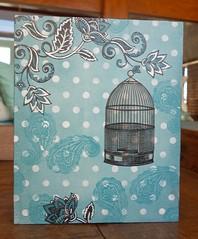 P.Retrato Box (Kika 2002) Tags: madeira wood mdc handmade craft artesanato pintura painting azul blue gaiola cage
