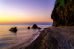 Rocky beach (oleksandr.mazur) Tags: beach clear coast dusk evening georgia horizon landscape light mountain nature ocean outdoor peaceful rest rock scenic sea sealine seascape shade shadows shore sky skyline slope splash summer sun sunlight sunset sunshine tourism travel vacation view water wave wavy