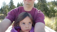 Jovie and Daddy on the Alpine Slide 4 (Aggiewelshes) Tags: phone s6 october 2016 travel utah parkcity utaholympicpark alpineslide jovie adrian