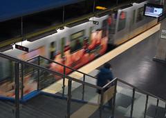 On the move... (alex.gan) Tags: movimento metropolitana interno scala treno stazione arrivo partenza viaggio citt genova viaggiare trasporti trasportopubblico graffiti diagonali sottoterra