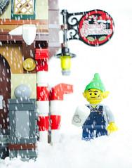 December 1st (thereeljames) Tags: lego legophotography legopics legos christmas holidays december elf xmas minifigure minifig minifigures toys toyphotography toy