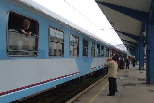 Train at the Sarajevo railway station, 27.05.2012.