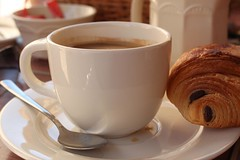 In the Morning (haberlea) Tags: france morning coffee cup breakfast langeais loirevalley drink painauchocolat