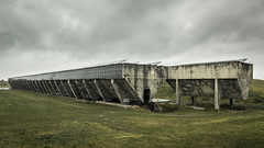 Solarbunker (Job I) Tags: solarbunker bunker solar panels gelsenkirchen ruhrgebiet germany europe industry industrial concrete structure building sky clouds winter gray grass wide angle travel