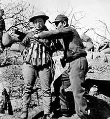 #Chinese suicide bomber putting on 24 hand grenade-explosive vest prior to attack on Japanese tanks. 1938 [590x636] #history #retro #vintage #dh #HistoryPorn http://ift.tt/2fZjGVZ (Histolines) Tags: histolines history timeline retro vinatage chinese suicide bomber putting 24 hand grenadeexplosive vest prior attack japanese tanks 1938 590x636 vintage dh historyporn httpifttt2fzjgvz