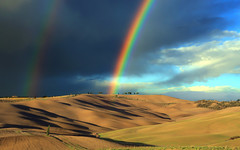 Somewhere ... (Gio_guarda_le_stelle) Tags: toscana valdorcia rainbow clouds landscape italy dream