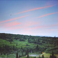 3 (zakchalmers) Tags: 3 canon eos t2i forest greenery sky cloud plane fly flight wing trust tree grass hill bird speed