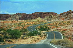 Do you like to drive?  (Valley of Fire, Nevada) (Rita Eberle-Wessner) Tags: usa nevada valleyoffire mojave mojavedesert desert wste strase kurve street road landschaft landscape clarkcounty stones rock felsen