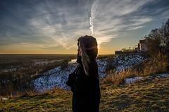 Anna (ivan_volchek) Tags: sunset portrait clouds rays light ravine outdoor