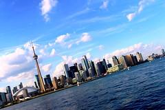 Toronto (livinkolourzbombshotta) Tags: toronto torontoisland skyline canada lakeontario cn cntower pink pinkskies miamivice rogers