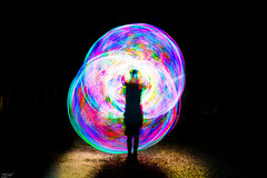 LED hooping (ErikN86) Tags: lighttrails led hooping night light shadow long exposure sony sonydslr sweden sonya77ii hoop