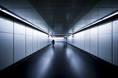 Corridor (CoolMcFlash) Tags: corridor subway underground person reflection architecture clean city urban canon eos 60d sigma 1020mm 35 korridor ubahn station praterstern spiegelung architektur sauber stadt fotografie photography symmetry symmetrie