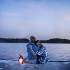 He found love, on the darkest of shores. (David Talley) Tags: ocean pink blue sunset sun lake love water dock lovers hills bam puddingstone bonelli sandimas itsokay bonellipark puddingstonelake youprobablydid iknowitslate butihadtowait forthesuntosaaaayt saaaaytset didntseethatonecomingdidya