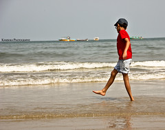 Beach shore !!  YOU WILL NEVER GET TIRED OF PLAYING :):):) (Kanishka **) Tags: sea india beach kids canon play candid karnataka seashore samrat kanishka beachshore childplay 550d kanishkasamrat