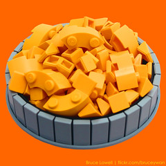 Macaroni and Cheese (bruceywan) Tags: food cheese mac yum lego bruce macaroni photostream kraft lowell moc brucelowellcom