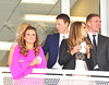 Coleen Rooney, Jonny Evans during Liverpool Day at the John Smith's Grand National Festival at the Aintree Racecourse Liverpool, England