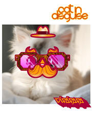 Cat In Disguise (Chobopop) Tags: cat glasses design character pussy hipster moustache disguise vector pussycat har lolcat chobopop