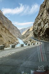 Skardu to KKH (M.Omair) Tags: from road city autumn winter brown white snow tree water beautiful yellow fog clouds river sand nikon view desert you photos fort top or peak valley everyone omair leafs indus vr 18105 skardu baltistan shigar virgomair d7000 imomair kharpachu gilgitl kharphocho