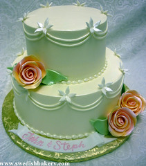 Swags and Roses Wedding Cake (Swedish Bakery Chicago) Tags: 102111