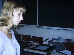 Nathalie (the justified sinner) Tags: film netherlands amsterdam 35mm meeting slide nathalie transparency scanned conference teapot justifiedsinner vakschool