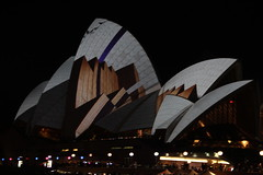 projected blocks at the opera (gemini*jen) Tags: city winter light art june festival night dark harbour australia celebration festivaloflight operahouse projections vividsydney ringexcellence