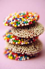 Candy Visions (JebbiePix) Tags: food blur macro vertical closeup dessert rainbow colorful candy pentax chocolate lavender tasty row sugar sprinkles snack sweets taste dots edible sugary multicolor confection jimmies snocaps  nonpareils nonpareil nonpariel zykkor nonpariels