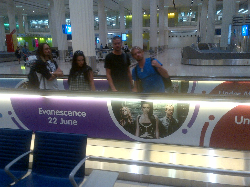 Look who was spotted on the moving sidewalk in the Dubai airport today!