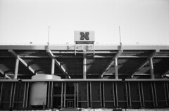South Stadium (keith.derickson) Tags: blackandwhite film 35mm nebraska olympus lincoln stylus pointandshoot 100 epic unl foma fomapan universityofnebrasksalincoln