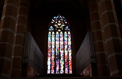 St. Jacob's and St. Agnes' Church window and organ (Michael Tracy's photos) Tags: poland nyas