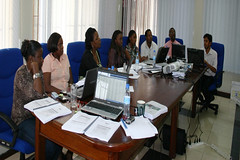 IITA-Tanzania administrative in a 5-day training (IITA Image Library) Tags: training teams facilitators administrative