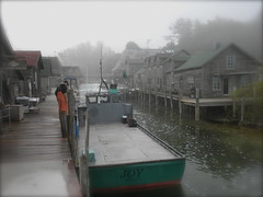 Foggy morning. (John Levanen) Tags: leland michigan joy fishtown lelandriver