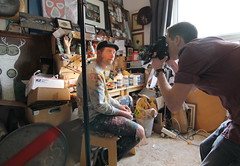 Creating Balance Project - Artist My Dog Sighs and Photographer Jack Daly (Claire_Sambrook) Tags: max art students photography lights design creative anglepoise cameras portsmouth lamps jonas filming mydogsighs universityofportsmouth strongisland jackdaly creatingbalance creatingbalanceproject