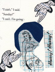 I Can't (GallivantingGirl) Tags: art collage paper newspaper artwork mixedmedia vintageephemera