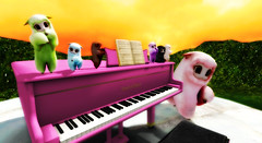 Skybox  Alpacas (Buraindo Yoshikawa) Tags: life pink alpaca piano s x secondlife eod e plushie end second l p daze i